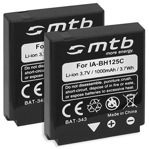 2X Baterías IA-BH125C para Samsung/Pentax D-Li106 / Ricoh DB-65 / Sigma BP-41. v. Lista!