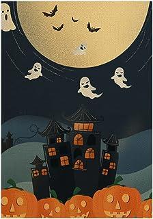 ASKLKD Drapeau de Jardin ou traite, Halloween Halloween Bannière Bannière Double Face Conception d'impression saisonnière ...