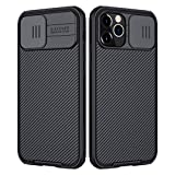 Nillkin Custodia per iPhone 12/12 PRO, CamShield PRO [Protezione Fotocamera] Bumper Protettiva Ultra Sottile Leggero Custodia Anti Graffio Hard PC Case Back Cover per 12/12 PRO (Nero)