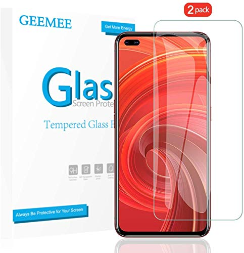 GEEMEE Tempered Glass Film for Realme 6 PRO Realme X50, 9H Hardness Screen Protector, Anti Scratch HD Protective Transparency Screen Protector Film (Transparent) - 2 Pack