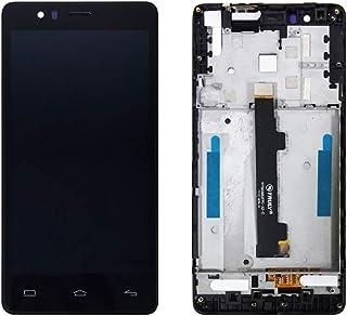 JayTong - visualización LCD y digitalizador de visualización táctil de Repuesto para BQ Aquaris E5 4G 0982 TFT5K0982FPC-A2-E Negro con Marco