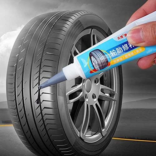 Kinin Pegamento Adhesivo De La Reparación del Neumático del Coche De 30 Ml,Pegamento De Reparación De Neumáticos,Pegamento Impermeable para Neumáticos Sellador para Coche Motocicleta Bicicleta Camión