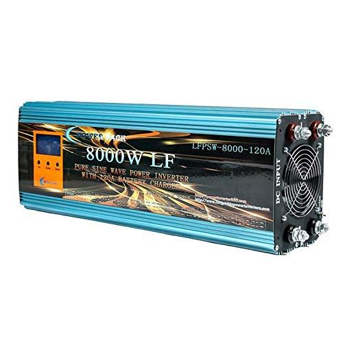 POWER JACK Wechselrichter Pura 8000 W 12 V auf 220 V LCD + Batterieladegerät 120 Ah