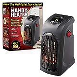 L&U Wonder Calefactor Pro Portable Wall-Outlet Plugin Calentador eléctrico Ventilador de Aire Radiador Caliente para Oficina Mesa de Escritorio Casa Dormitorio