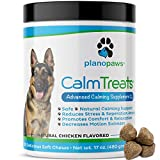 Calm Treats - Safe Calming Treats for Dogs - Dog Anxiety Relief - Natural Calming Aid - Helps with Separation Anxiety - Motion Sickness - Storms - Fireworks - Chewing - Barking - Stress - 120 Count