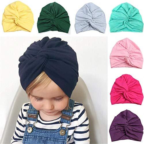 Chapeaux de bébé nouveau-né Mode mignon Chapeau écharpe garçon fille Coton Croix Inde Chapeau au quotidien pour photographie de fête d'anniversaire vert Green