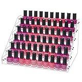 Benbilry Organiseur de vernis à ongles en acrylique à 6 niveaux, pour huiles essentielles également, transparent