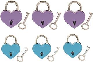 6 Heart Locks Bridge Love Padlock Wedding Engagement Anniversary Gift /& Keys