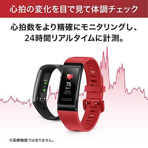 HUAWEIBand4pro/グラファイトブラック【日本正規代理店品】内臓GPS搭載/リアルタイムトレーニング/24時間心拍測定