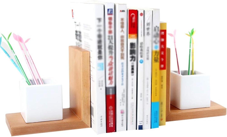 Chunlan bookshelf Solid Wood Shelf Student Desktop Divider - 30  10  15cm (color   B, Size   30  10  15cm)