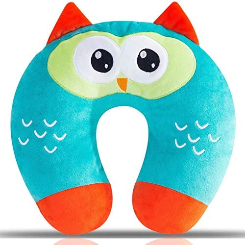 Little Grape Land Kid s Travel Neck Pillow Owl Head Neck and Chin Support Animal Travel Pillow product image