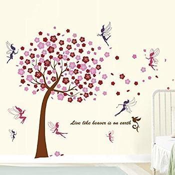 Wandtattoo Wandaufkleber Einhorn Fee Schmetterlinge
