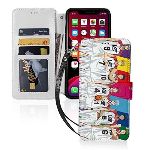 El baloncesto que Kuroko juega el iPhone 11 Wallet casos con ranuras para tarjetas desmontable pu cuero Flip Cover iPhone 11 Pro Max-6.5
