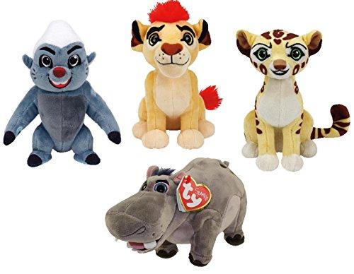 Ty Lion Guard Beanie Babies Plush - 4 Piece Set (Kion, Fuli, Bunga and Beshte!)