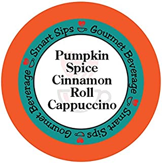 Smart Sips, Pumpkin Spice Cinnamon Roll Cappuccino, 24 Count, Compatible With All Keurig K-cup Brewers