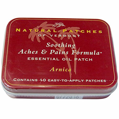 Natural Patches of Vermont Essential Oil Patches Arnica, Aches & Pains 10 count tins (a)