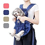Coppthinktu Dog Carrier Backpack - Legs Out Front-Facing Dog Hiking Backpack for Small