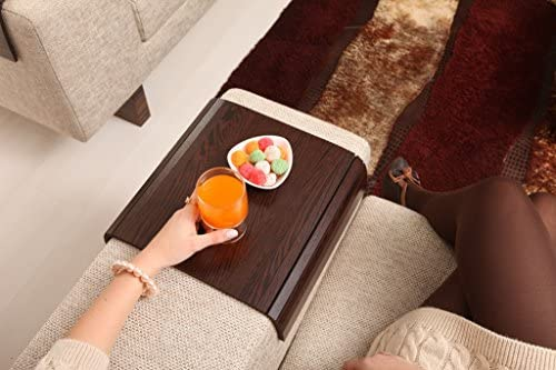Best Sofa Tray Table (Tropical Wenge), Sofa Arm Tray, Armrest Tray, Sofa Arm Table, Couch Tray, Coffee Ta