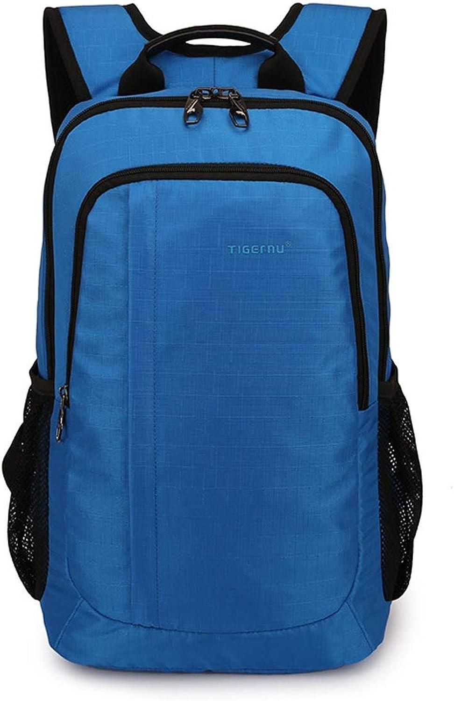 QYSZYG Computer-Tasche Einfache Mode für Mnner und Frauen Computer-Rucksack 14-Zoll-beilufige Unterhaltungstasche (Farbe   Blau)