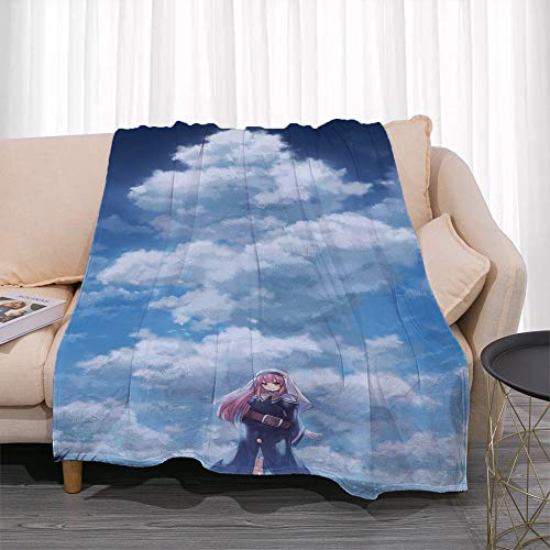KaiWenLi THE DAY I BECAME A GOD Sato Young Bird Under The White Clouds Cartoon Blanket/single Side Printing Pattern Best Bedding/soft And Comfortable/suitable For Adults, Children/new Year And Christm