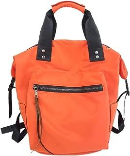 LENXH Women'S Handbag Waterproof Oxford Cloth Bag Large Capacity Backpack College Wind Backpack Solid Color Bag