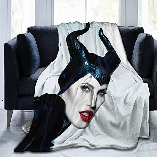 Mujeres Manta de Franela de Forro Polar para Viajes de Trabajo de otoño, súper Suave Witch Queen Mal Mistress of Evil 2014 Manta de Navidad, Gruesa y Ligera 60'x50 60 x 50 Pulgadas