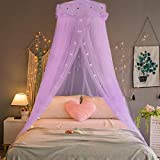 Jeteven Girl Bed Canopy Lace Mosquito Net for Girls Bed,...