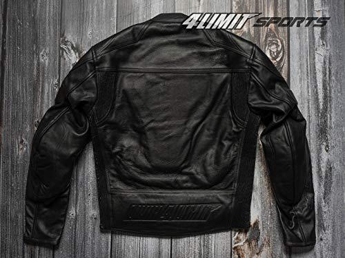 Motorradjacke Leder 4LIMIT Sports STREETBANDIT Biker Rocker Motorrad Jacke Lederjacke schwarz - 2