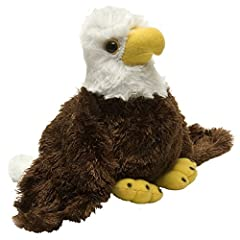 Feel as though you are flying high up in the sky with your new Bald Eagle stuffed animal Made from soft high-quality materials this Bald Eagle plush toy makes a marvelous playtime companion This stuffed toy is surface washable making this plushie fun...
