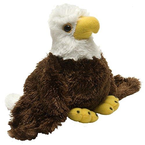 Wild Republic Bald Eagle Plush, Stuffed Animal, Plush Toy, Gifts for Kids, Hug'Ems 7'