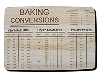 Baking Chopping Board with Conversions - Gift Idea - Open for Christmas