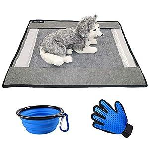 PULSATILLA Washable Dog Puppy Pad Holder,Dog Training Pee Pad Holder,Puppy Pad Tray,Pet Dog Traing Mat(Don't inlcude Dog and Pee pad)