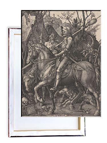 Unified Distribution Albrecht Dürer - Ritter, Tod und der Teufel - Klassisches Gemälde - Replik auf Leinwand 80x60 cm