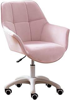 KST Silla de Escritorio Silla de Trabajo de Oficina de Terciopelo para el hogar con cojín de diseño único sillón Girator...