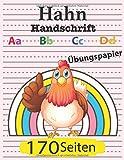 Hahn Schreibbuch: Aa Bb Cc Dd: Übungspapier 170 Seiten: Mädchen Entzückende rosa Hähnchen linien und gepunktetes Notizbuch für Kindergarten zu Grundschülern der 3. Klasse, Bestes Geschenk für Kinder