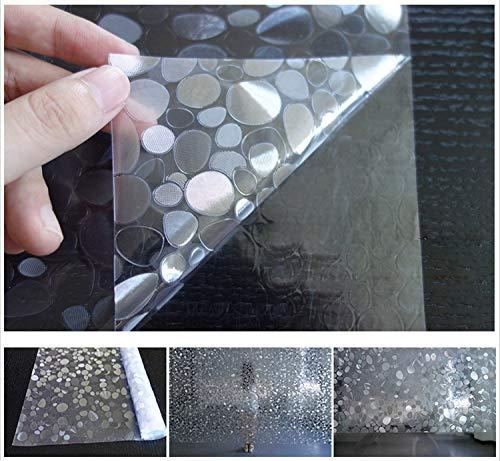 YSHUO raamsticker ondoorzichtig privacy decoratief glas raamfolie huisdecoratie statisch kiezelpatroon