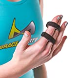 BraceAbility Buddy Tape Finger Splint Wraps | Non-Slip Loop Straps for Treating/Taping a Jammed Finger, Sprained Knuckle, Swollen or Dislocated Joint, Fractured Pinky (Pack of 3)
