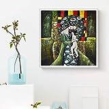 Geiqianjiumai Abstrakte berühmte Gustav Klimt Malerei auf Leinwand Poster drucken Bild Wandkunst Wohnzimmer Schlafzimmer Esszimmer Moderne Dekoration HD rahmenlose Malerei 70x70cm