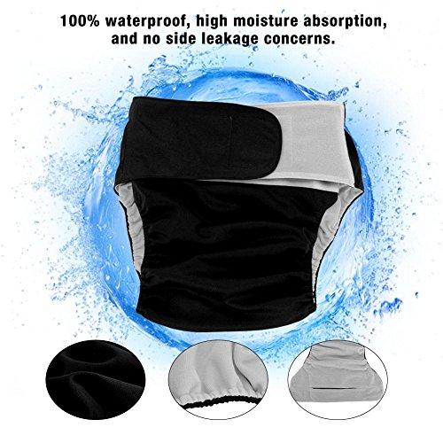 Simlug 【𝐒𝐩𝐫𝐢𝐧𝐠 𝐒𝐚𝐥𝐞】 Large Adult Nappy 4 Colors Adult Cloth Diaper Reusable, Washable Adjustable Large Nappy Newborn Cloth Diapers Adult Cloth Diaper, Reusable Diapers(Black 404)