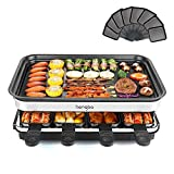 Raclette Grills 8 Person | 8 Mini Pans for Cooking Cheese and Side