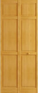 Kimberly Bay Traditional Six Panel Golden Oak Solid Core Wood Bi-fold Door (80x36)