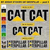 Autocollants Caterpillar Cat Mouvement Terre Excavateur Couleur Noir - (Personnaliser les couleurs) - 0363