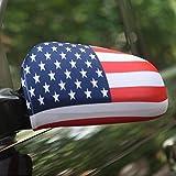 Spiegelflagge/Spiegelfahne USA 1 Paar, Auto/PKW Rückspiegel/Autospiegel Fahne/Flagge/Überzug