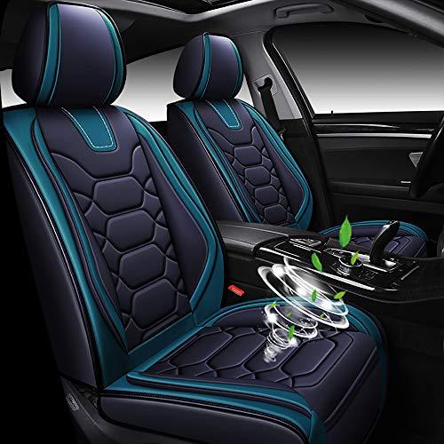 chifeng Fundas de asiento de coche, funda de asiento impermeable, 5 asientos, accesorio universal para BMW E46 E90 F30 E39 E60 F10 X3 (negro y verde)