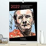 Unvergessene Rennfahrer aus dem Motorsport, 12 Portrait-Gemälde (Premium, hochwertiger DIN A2 Wandkalender 2022, Kunstdruck in Hochglanz)
