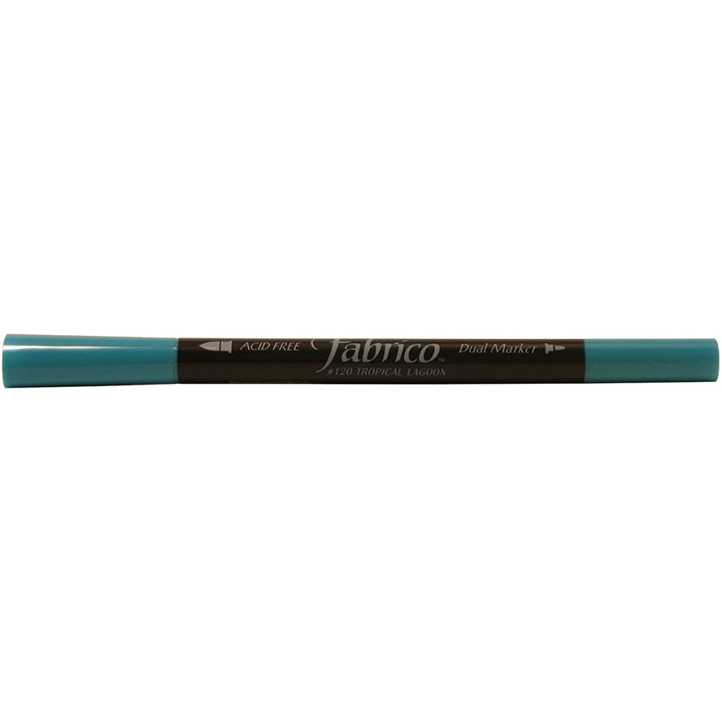 Tsukineko Dual-Ended Fabrico Marker Color-Fast, Tropical Lagoon