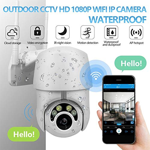 Metermall 360 Eyes HD Hemispheric Camera WiFi IP Camera CCTV IR Camera Outdoor Security white European Plug