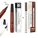 Eyenjoy Eyebrow Pen,Eyebrow Tattoo Microblade Pen-Waterproof Microblade Eyebrow Pencil with a Micro-Fork Tip Applicator,Creates Natural Looking Eyebrows Effortlessly and Stays on All Day,2 count
