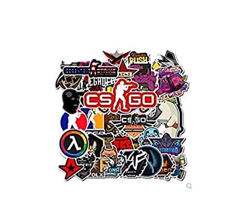 ZJJHX Counter-Strike Csgo Suitcase Aufkleber wasserdichte Persönlichkeit Skateboard Aufkleber Notebook Aufkleber 50 Blatt