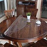 120cm Phononey Mantel de PVC Cubierta de Mesa Mantel Transparente Rect/ángulo de protecci/ón Estera de Oficina de Vidrio Suave Mantel de Mesa de Comedor 60
